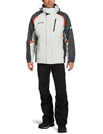 Free Country Men's Zipped Lined Three In One Systems Jacket, Antisilv/Lead Pencil, Medium