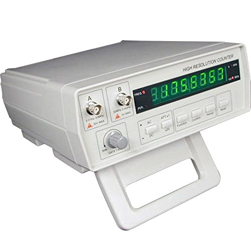 Counter Frequency - Gain Express VC3165 Radio Frequency Counter 0.01Hz~2.4GHz w/BNC Test Leads, High Resolution Professional RF Signal Meter Tester, 8 Digits LED Display