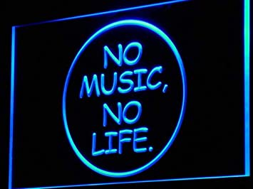 Amazon.com: ADVPRO No Music No Life Bar Beer Roll Rock LED ...