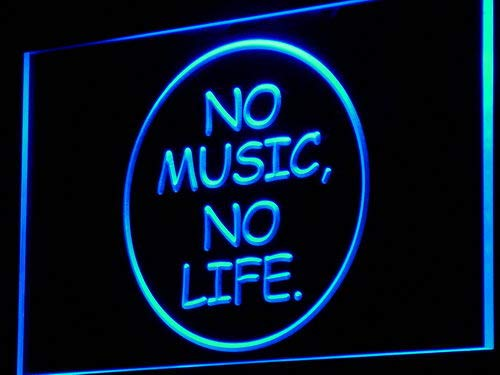 Cartel Luminoso ADV PRO i848-b No Music No Life Bar Beer ...