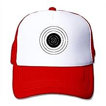 Bullseye Black And White Caps Unisex Mesh Baseball Hat