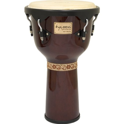 Tycoon Percussion 12 Inch Artist Series Djembe - Mahogany Finish by Tycoon Percussion