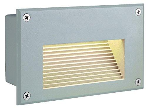 SLV Lighting 3229702U Brick LED Downunder Outdoor Recessed Wall Lamp, Greyish-white Grey Finish