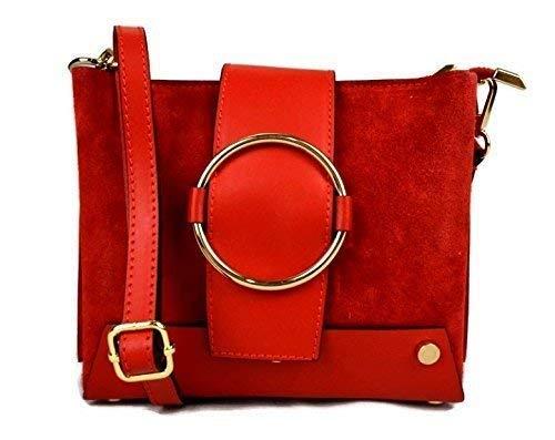 fa0753fdca Sac bandoulière femme cuir rouge claire sac en daim femme sac clous cuir sac  à main