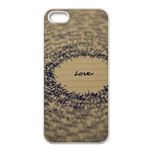 Love Typography 2 5 iPhone 4 4s Cell Phone Case White 218y-694134
