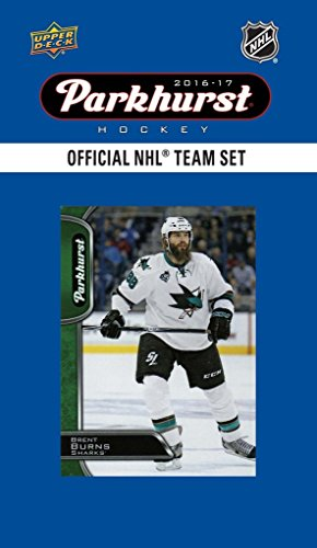 San Jose Sharks 2016 2017 Upper Deck PARKHURST Series Factory Sealed Team Set including Patrick Marleau, Logan Couture, Joe Thornton Plus