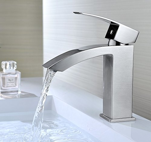 Purelux Gibbon Contemporary Design One Handle Bathroom Sink Faucet With Deck