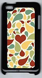 Apple iPod 4 Case and Cover - Light Colors Petals PC Case Cover for iPod 4/ iPod 4th Generation - Black
