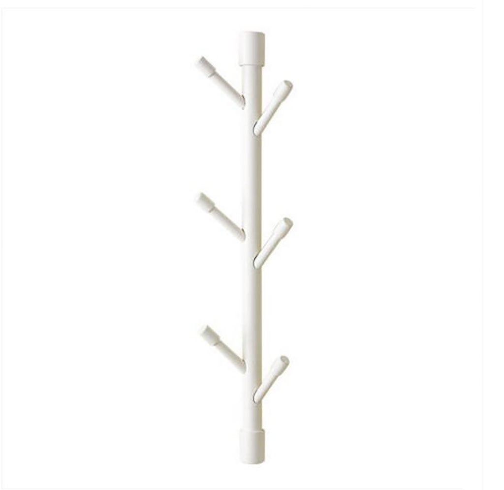 Ymj Wall hangers/door clothes rack/living room bedroom wall set/frame solid wood simple coat rack (Color : C)