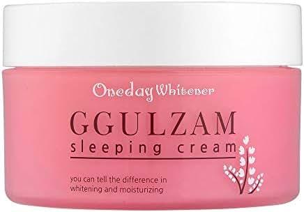 Nella Night Cream, Oneday Whitener Ggulzam Sleeping Cream, Moisturizing, Whitening and Anti-Wrinkle, Korean Beauty, 100 ml