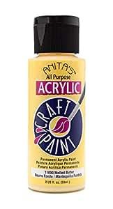 All Purpose Permanent Acrylic Paint - Colour 11090 Melted Butter/beurre Fondu