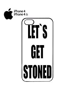 Let`s Get Stoned Weekend Party Mobile Cell Phone Case Cover iPhone 4&4s Black