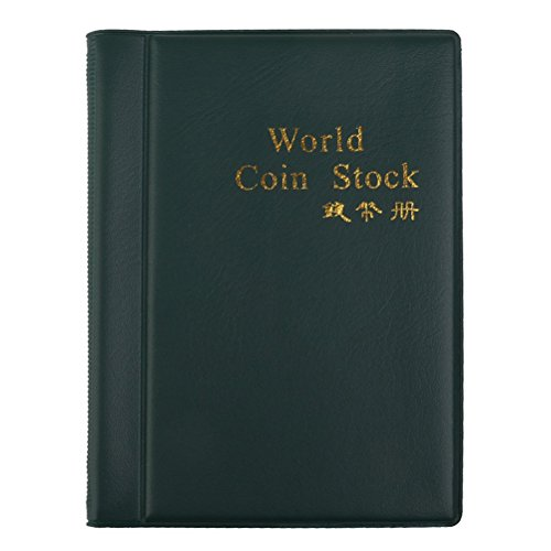 VORCOOL Coin Collection Collecting Album 120 Money Penny Pockets - Jasper Cabinet Collection