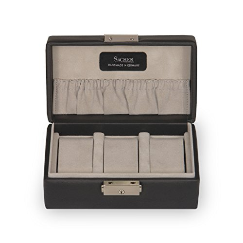 SACHER Uhrenetui für 3 Uhren / schwarz, Leder / handmade in Germany -
