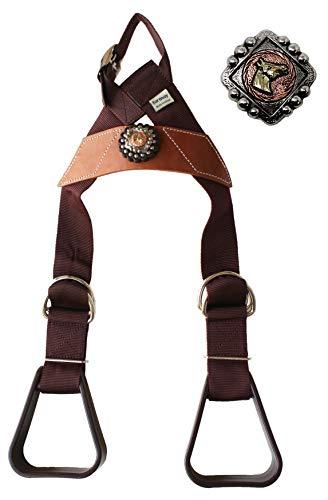 CHALLENGER Horse Saddle Western Kids Child Youth Pony Buddy Stirrups w/Concho 5138CO549
