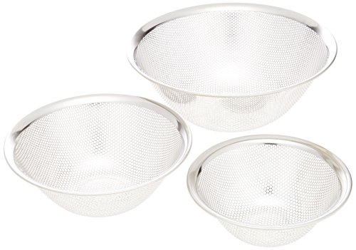 Sori Yanagi stainless bowl punchingstrainer (16.19.23) 6pcs by Sori Yanagi (Image #2)