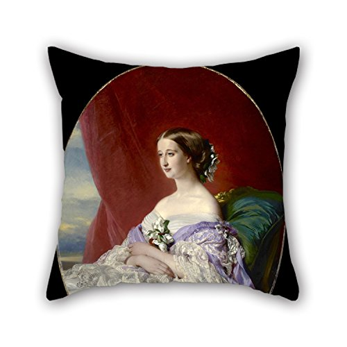 Pillow Covers 20 X 20 Inches / 50 By 50 Cm(2 Sides) Nice Choice For Bedroom,him,car,christmas,monther,teens Girls Oil Painting Franz Xaver Winterhalter - Empress Eugénie (Empress Bedroom)