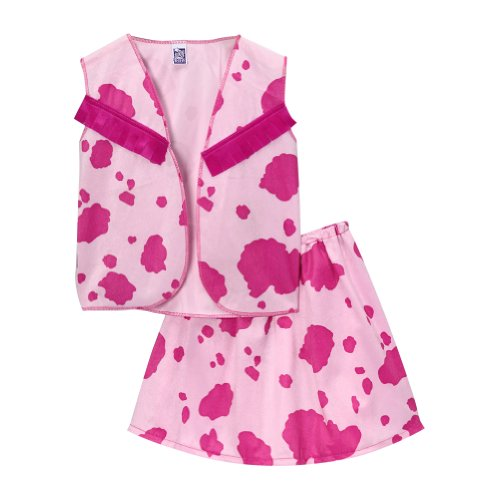 Girls Cowgirl Vest and Skirt Set Pink/Fuchsia (Large) (Pink Cowgirl Costume)