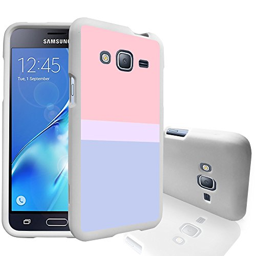 MINITURTLE Case Compatible w/MINITURTLE Slim Case Compatible w/Samsung Galaxy J3 2016, Amp Prime, Express Prime, Galaxy Sol Case & J3V [Snap Shell] 2 Piece Hard White Case Sunset Pastel