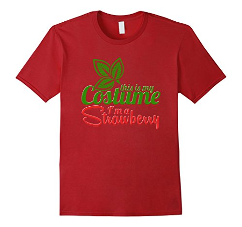 Mens Strawberry Costume Weird Halloween Shirt Funny This Is My 2XL Cranberry - Weird Halloween Costumes Homemade