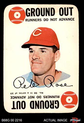 1968 Topps Game # 30 Pete Rose Cincinnati Reds (Baseball Card) Dean's Cards 4 - VG/EX - Game Topps 1968