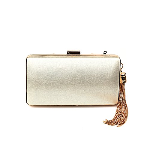 Clutch Tassel Bridal Bags Evening Women's Purse Elegant Wedding Beige Party Pendant qOwqaxR