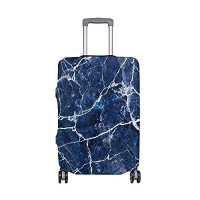 b5ebb6dbc1f2 delicate ALAZA Blue Marble Dark Elastic Travel Suitcase Protector Luggage  Cover Spandex Print Design Fits 18