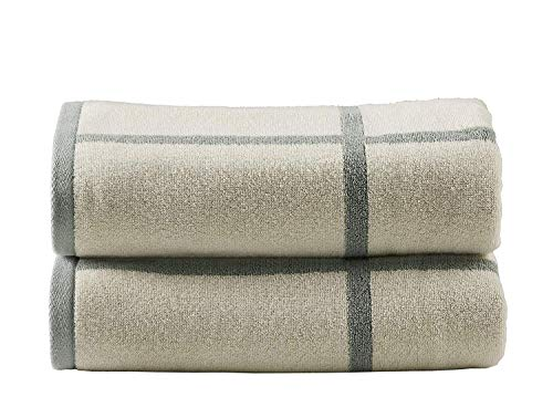 City Blocks Bathroom Towels Pack 2 Pc (2 Bath Sheets, 32 x 64), Great Absorbency and Soft Touch, All Cotton 590 GSM (Aqua Color)
