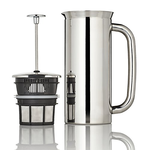 Espro Coffee Press P7-32 oz Double Wall Vacuum Insulated Polished Stainless Steel Coffee Press by Espro