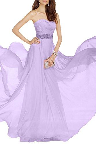 Promkleider Lang Kleider Jugendweihe Elegant Tanzenkelider mia La Abendkleider Brau Lilac Partykleider Chiffon Festlichkleider qxzPR