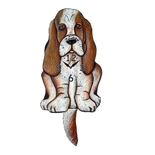Basset Hound Dog Wagging Pendulum Clock
