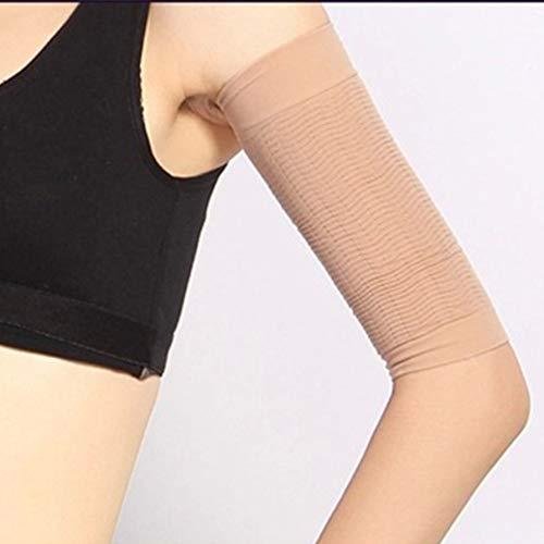 十億ラリー熱心1ペア420 D圧縮痩身アームスリーブワークアウトトーニングバーンセルライトシェイパー脂肪燃焼袖用女性 - 肌色
