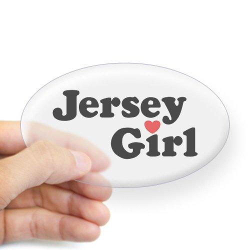 CafePress - Jersey Girl Oval Sticker - Oval Bumper Sticker, Euro Oval Car Decal