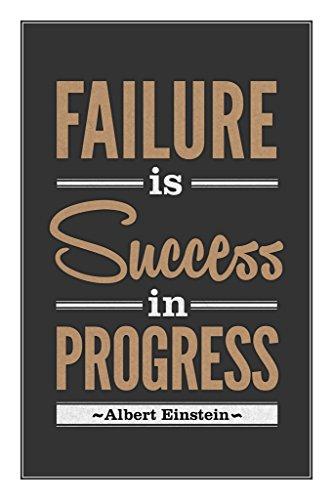 Albert Einstein Failure Is Success In Progress Motivational Poster