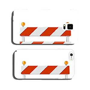 Roadblock isolated on white background cell phone cover case iPhone5