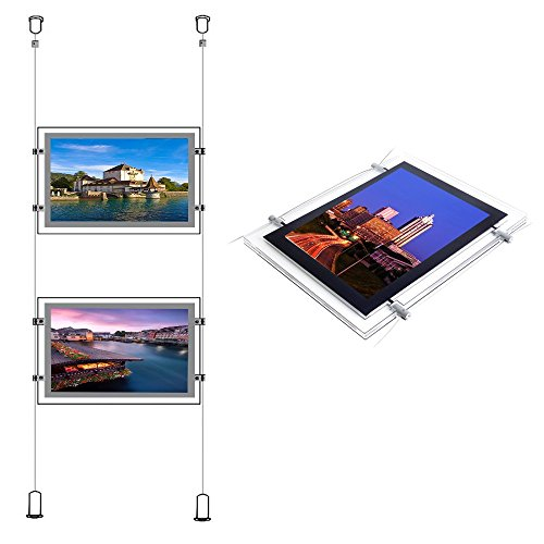 (Double Side Acrylic Crystal Led Backlit Poster Light Box Frame For Real Estate Window)