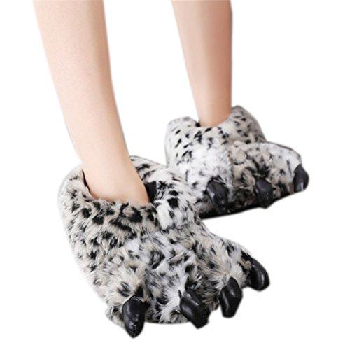 Unisexe Pantoufle Chausson Leopard En Épais Nanxson Hiver TM D'animaux 4 Pattes TX0001 Chaud qt5qUPx