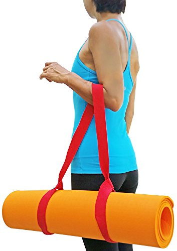 """Clever Yoga Mat Strap Sling Made With The Best, Durable Cotton - Comes With Our Special """"Namaste"""" (Purple)"""