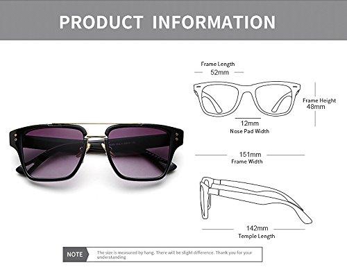 Vision mujer sol montura Cuadrado Day diseño lente Gafas Eye estuche para Rosado lente de Unisex Wear negro Gafas hombre gradiente para con de de Wayfarer Hombres tTtXwqv