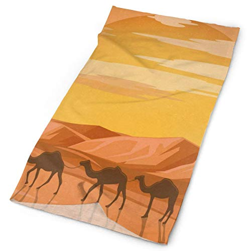 - Headband Cartoon Camel Sunset Outdoor Scarf Mask Neck Gaiter Head Wrap Sweatband Sports Headwear