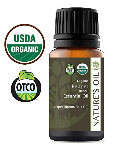 (Best Pepper Black Essential Oil Pure Certified Organic Therapeutic Grade 10ml)