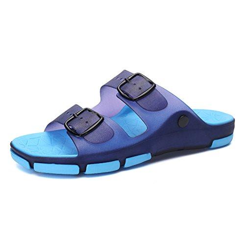 Sandalo Blu EU43 5 Antiscivolo Da dimensioni scuro Infradito Colore Spiaggia QIDI Estivo UK9 gray Da Blue Uomo 76IZxn0