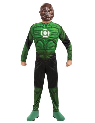 Green Lantern Child's Deluxe Kilowog Costume with Muscle Chest - One Color - Small