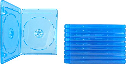 (10) Empty Standard Double Blue Replacement Boxes / Cases for Blu-Ray Disc Movies BR2R12BL