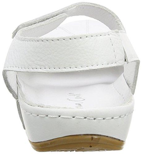 Andrea Conti Damen 0021562 Geschlossene Sandalen mit Keilabsatz Weiß (Weiß 001)