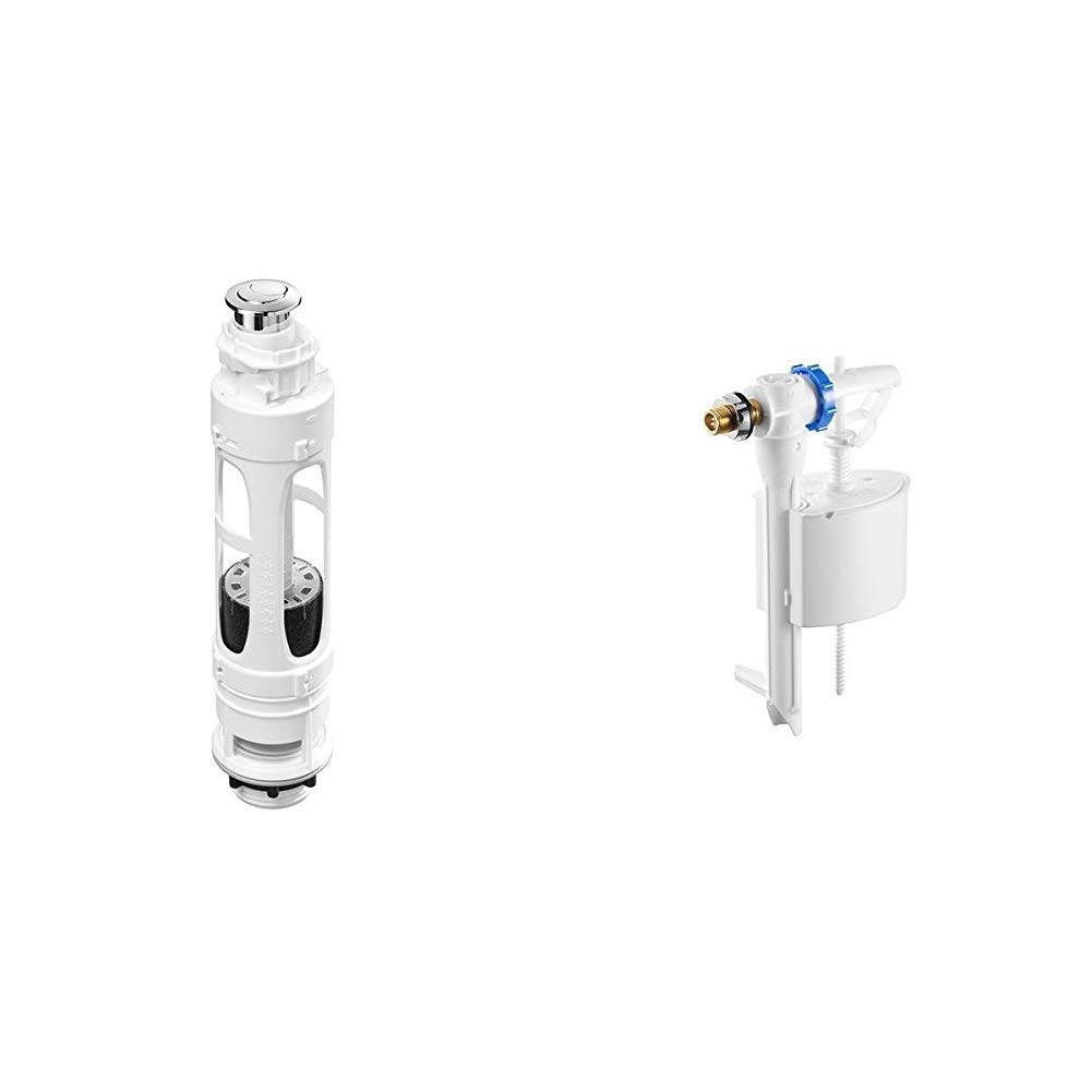 Roca A822502100 Mecanismo de doble descarga con 2 pulsadores, Blanco