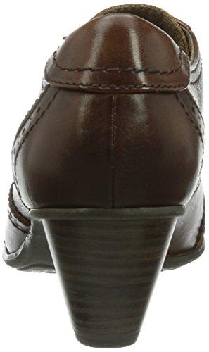 23300 Stringate Marrone cognac Scarpe Donna 305 Col Tacco Brogue braun Jana Modello dOTFqd