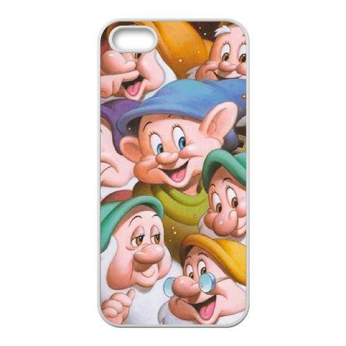 Y3C32 Disney Blanche-Neige et le caractère Sept Nains Simplet N7K8coque LG coque iPhone 5 5s cellulaire cas de téléphone couvercle coque blanche HX9PUD3BK