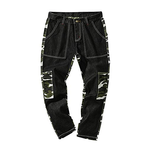AopnHQ Men's Camouflage Training Sports Casual Loose Pocket Workwear Trousers