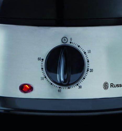 Russell Hobbs Cuiseur Vapeur 9L Programmable Minuteur, Cuisson Légumes, Riz, Œufs - 19270-56